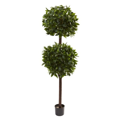 Nearly Natural 5398 6-ft Sweet Bay Double Ball Topiary