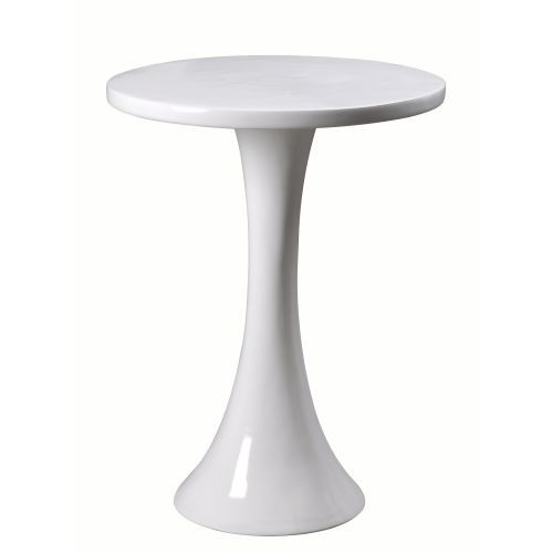 Kenroy Home Snowbird White End Table