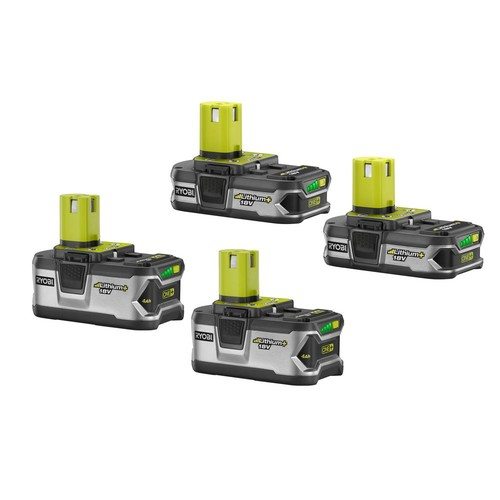 Ryobi 18-Volt ONE+ Lithium+ Lithium-Ion Battery Kit with Two 4.0Ah Batteries and Two 1.5Ah Batteries