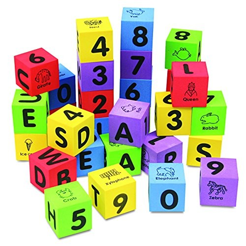 Chenille Kraft 4416 WonderFoam Learning Blocks, Assorted (Set of 30 Blocks)