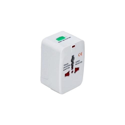 QVS PA-C3WH Premium World Power Travel Adaptor Kit W/Surge Prot White