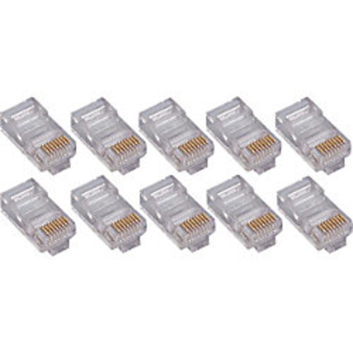 4XEM 100 Pack Cat6 RJ45 Modular Ethernet Plugs for Stranded or Solid CAT6 Cable