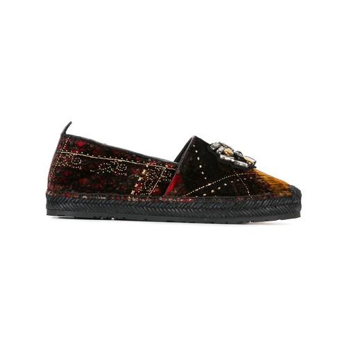 ETRO Embellished Plaid Slippers