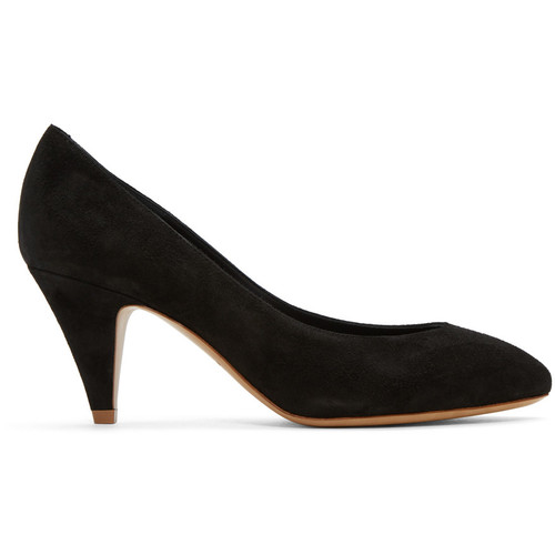 Black Suede Classic Heels