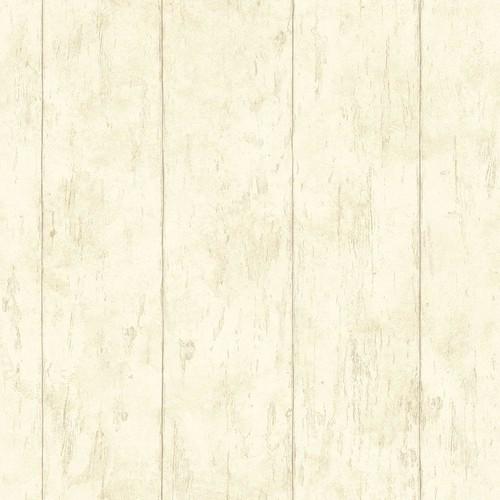 Chesapeake Reclaimed Cottage Cream Wood Wallpaper