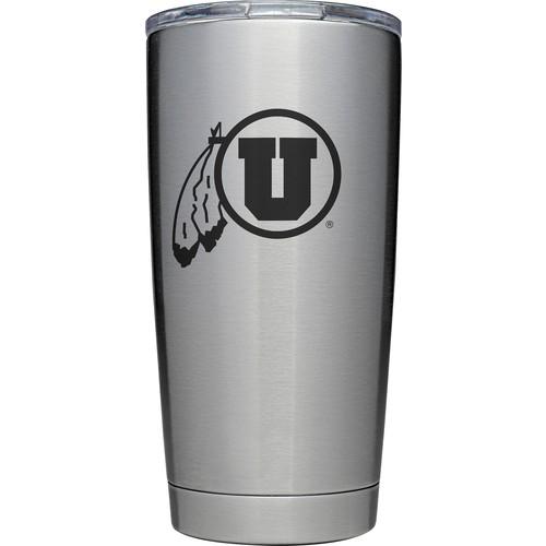 YETI Utah Utes 20 oz. Rambler Tumbler with MagSlider Lid