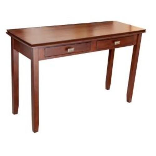 Simpli Home Artisan Medium Brown Auburn Storage Console Table