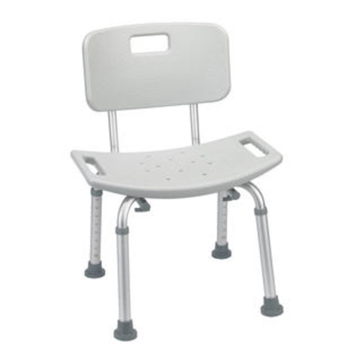 Drive Medical Rtl12202Kdr Bathroom Safety Shower Tub Bench Chair With Back, Gray