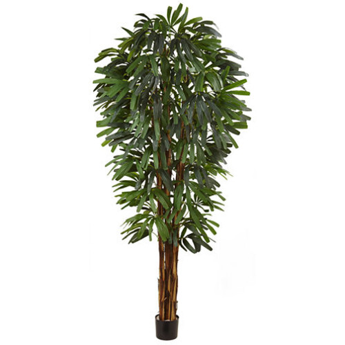 Nearly Natural 84 Raphis Silk Palm Tree