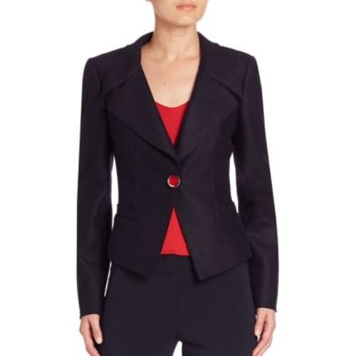 ARMANI COLLEZIONI Single-Button Wool Jacket
