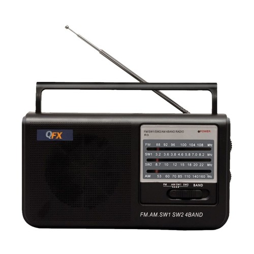 QFX - Portable Radio - Black