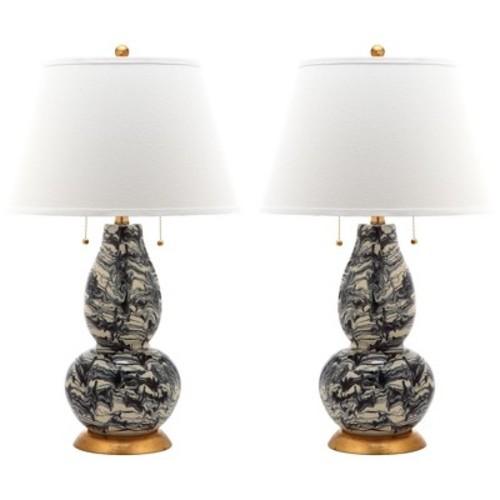 Swirls Glass Table Lamp (Set of 2) - Safavieh