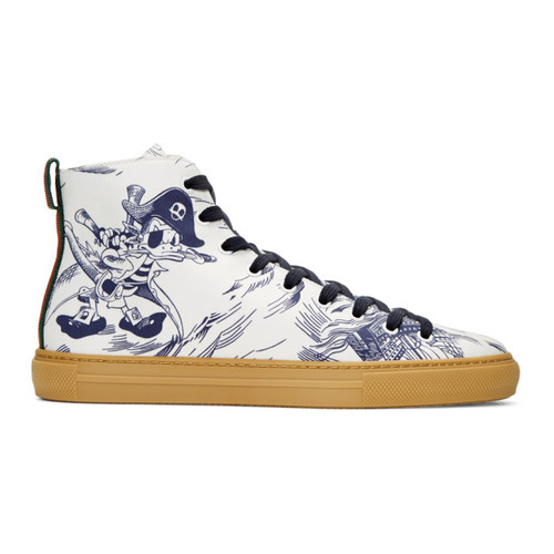 GUCCI Navy Sea Storm High-Top Sneakers