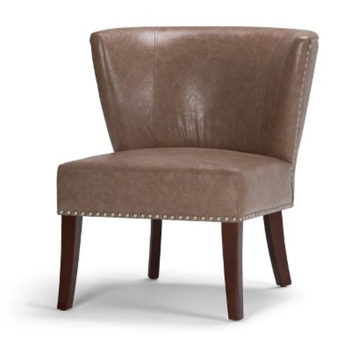 Jamestown Bonded Leather Accent Chair - Simpli Home