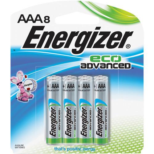 EcoAdvanced AAA Alkaline Batteries (1200mAh, 8-Pack)