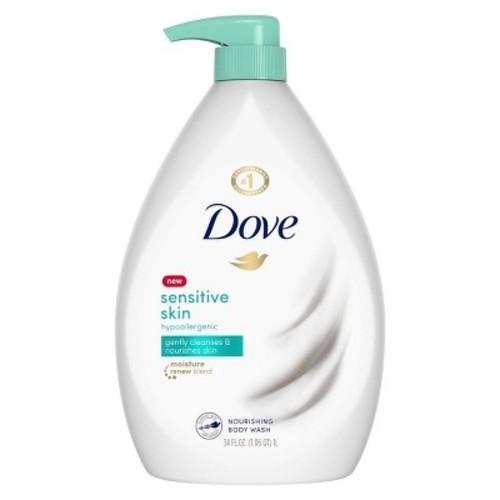 Dove Sensitive Skin Body Wash Pump, 34 oz