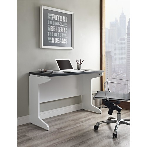 Dorel Pursuit White and Gray Bridge / Work Table