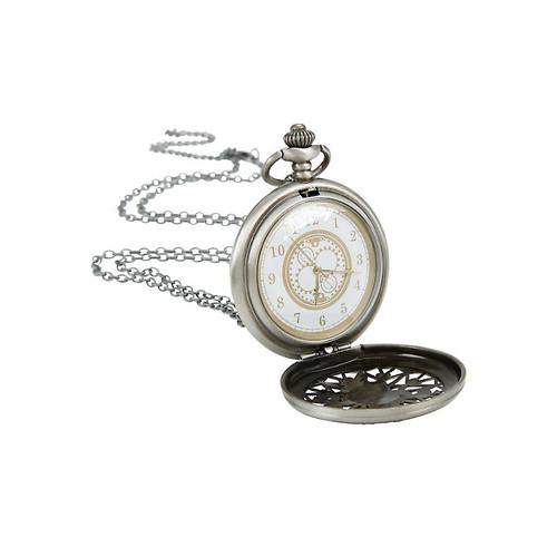Disney Alice In Wonderland No Time To Say Hello Pocket Watch Necklace