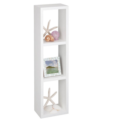 Honey Can Do Outdoor Storage Sheds & Boxes white triple cube wall shelf