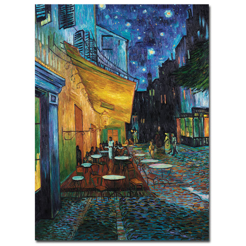 Trademark Global Vincent van Gogh 'Cafe Terrace' Canvas Art [Overall Dimensions : 35x47]