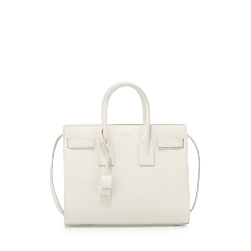 SAINT LAURENT Sac De Jour Small Satchel Bag, White