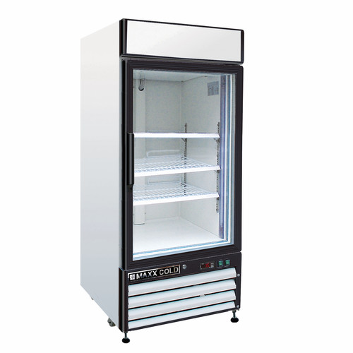 MAXX Cold MXM1-16R Single Glass Door Refrigerator 16 Cu Ft