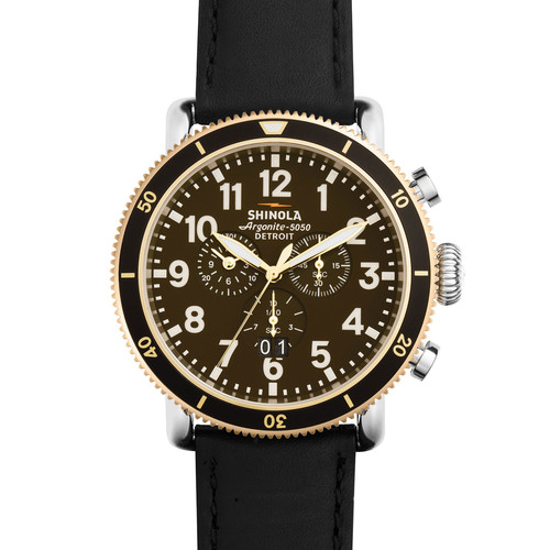 Men's 47mm Runwell Sport Chronograph Watch with Black Strap