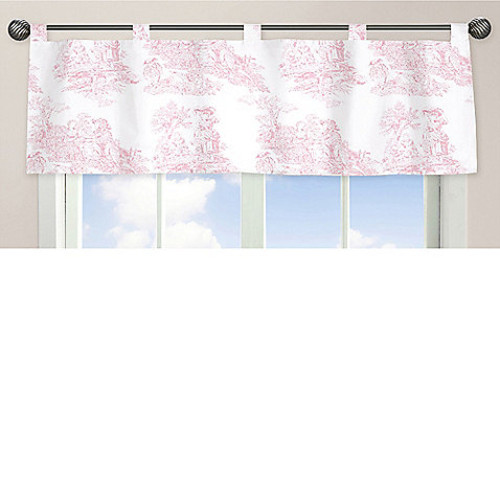 Sweet Jojo Designs French Toile Window Valance in Pink