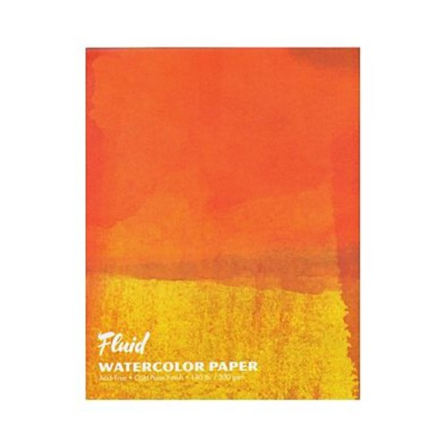 Global Art Fluid Cold Press Watercolor Paper 22 In. X 30 In. Pack Of 6 Sheets (882230)