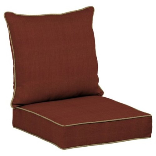 Pompas Pomegranate 2pc Outdoor Deep Seat Cushion Set - Red - Bombay Outdoors