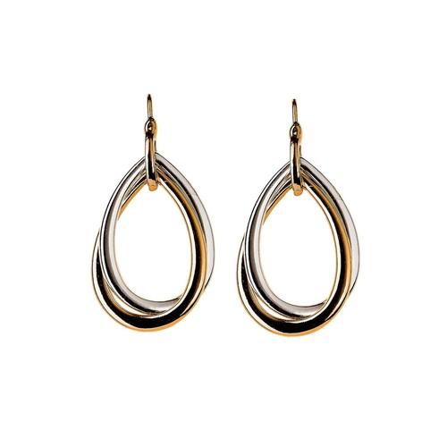 Two-Tone Twist Earrings