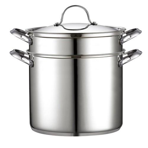Cooks Standard 4-Piece 12 Qt. Stainless Steel Pasta Stockpot Cooker Steamer Multipots Set