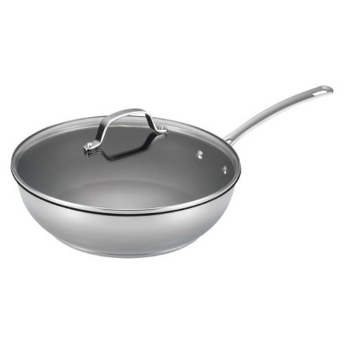 Circulon Genesis Stainless Steel Nonstick 12.5-Inch Covered Deep Skillet