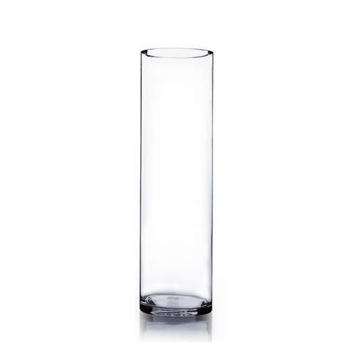 Clear Glass Cylinder Table Vase