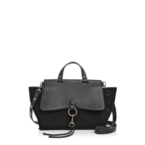 REBECCA MINKOFF Keith Medium Leather And Suede Satchel