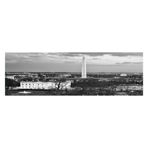 Trademark Global Gregory O'Hanlon 'White House' Canvas Art [Overall Dimensions : 18x32]