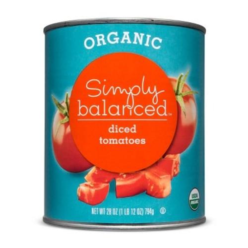 Organic Diced Tomatoes - 28oz - Simply Balanced