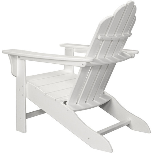 Hanover Outdoor White All-weather Contoured Adirondack Chair