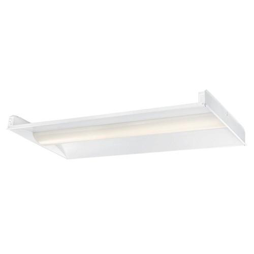 EnviroLite 2 ft. x 4 ft. 128-Watt Equivalent White Volumetric Integrated LED Commercial Grid Ceiling Troffer
