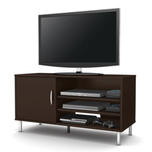 South Shore Furniture Renta TV Stand With Door, Chocolate Finish