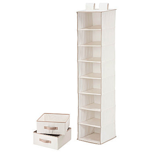 Honey-Can-Do SFT-01239 Hanging Closet Organizer, White, 8-Shelf [White, White]
