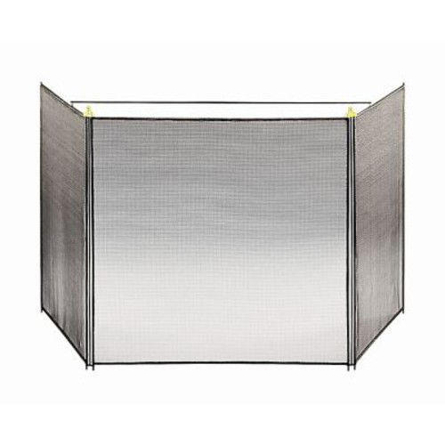 Minuteman 3 Panel Steel Fireplace Screen