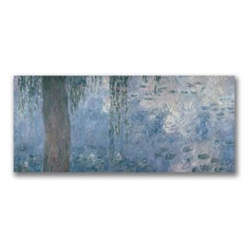 Trademark Fine Art Claude Monet Waterlillies Morning II' Canvas Art 10x24 Inches