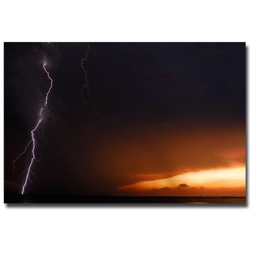 Lightning Sunset II by Kurt Shaffer, 16x24-Inch Canvas Wall Art [16 by 24-Inch]