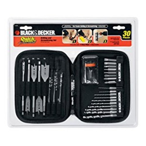 Black & Decker 71-973 Quick Connect Drilling and Screwdriving Set, 30-Piece [1 Set]