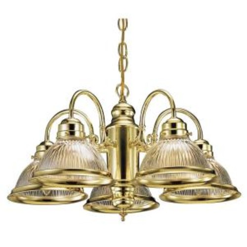 Design House Millbridge 5-Light Polished Brass Chandelier