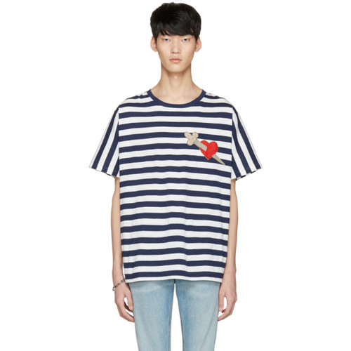 GUCCI Navy Heart & Arrow T-Shirt