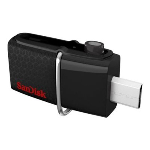 SanDisk Ultra Dual 16GB 130 Mbps Read USB 3.0 Flash Drive, Black
