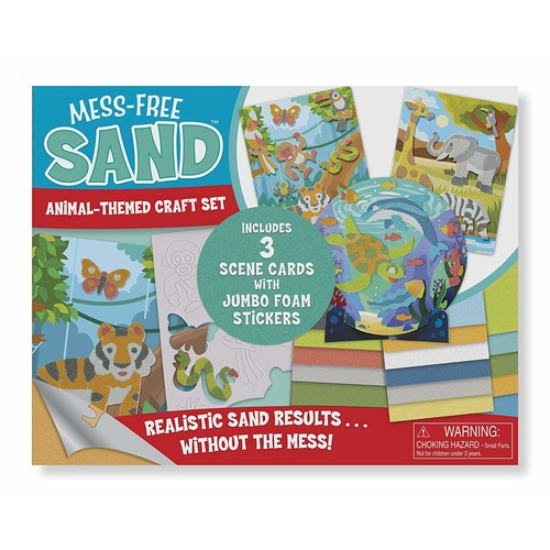 Melissa & Doug Mess-Free Sand - Animal Themed Craft Set