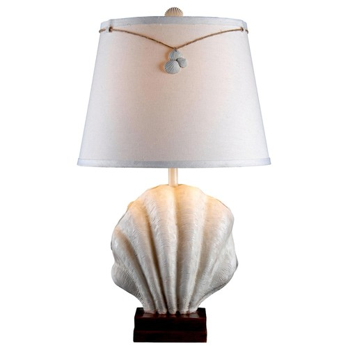 Kenroy Home Islander 29 in. Antique White Table Lamp